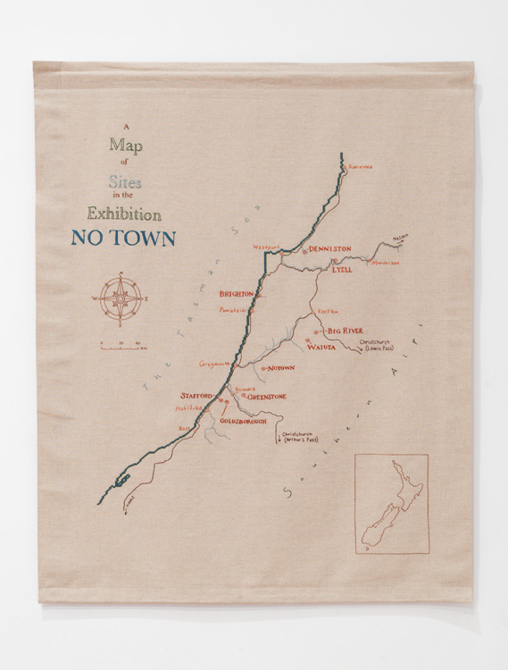No Town site map sampler (2014).