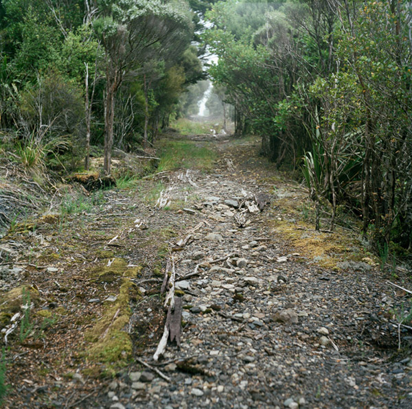 Former rope road between Burnett's