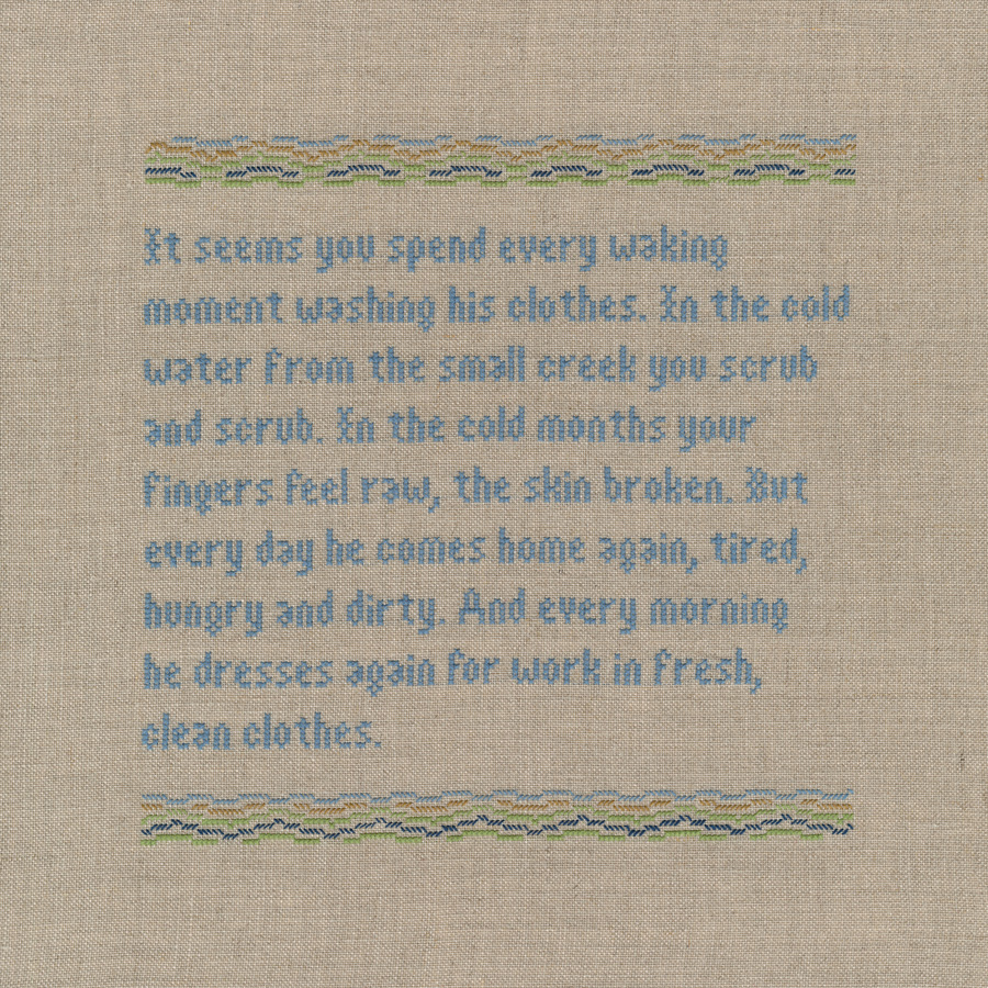 moment. 2020. Linen & cotton thread